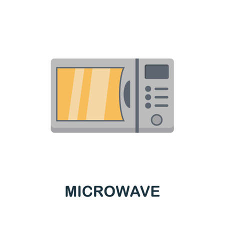 Microwave icon. Simple illustration from kitchen appliances collection. Monochrome Microwave icon for web design, templates and infographics. Çizim