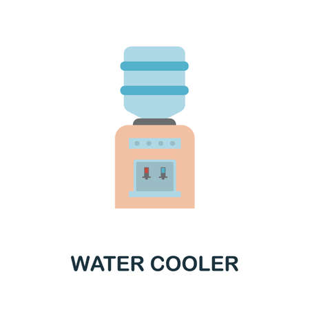Water Cooler icon. Simple illustration from kitchen appliances collection. Monochrome Water Cooler icon for web design, templates and infographics. Иллюстрация