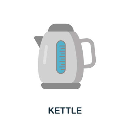 Kettle icon. Simple illustration from kitchen appliances collection. Monochrome Kettle icon for web design, templates and infographics.