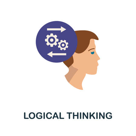 Logical Thinking icon. Simple illustration from personality collection. Monochrome Logical Thinking icon for web design, templates and infographics.