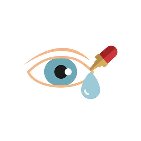 Eye Drops icon. Simple illustration from pharmacy collection. Monochrome Eye Drops icon for web design, templates and infographics.