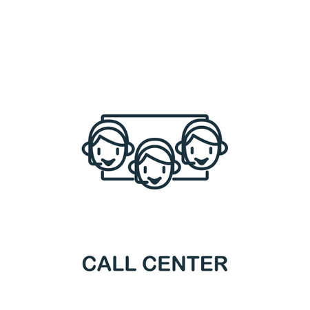 Call Center icon from customer service collection. Simple line element call center symbol for templates, web design and infographics.