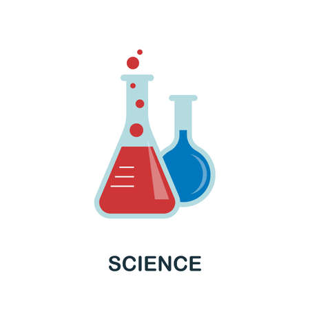 Science flat icon. Colored filled vector element from stem education collection. Creative Science icon for web design project, templates and infographics.
