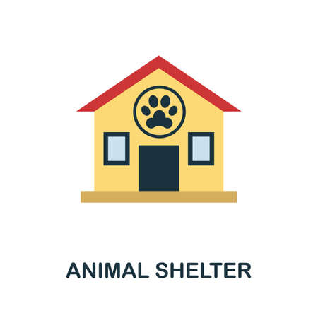 Animal Shelter flat icon. Colored filled vector element from volunteering collection. Creative Animal Shelter icon for web design project, templates and infographics.
