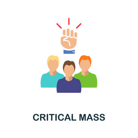 Critical Mass flat icon. Colored filled vector element from activism collection. Creative Critical Mass icon for web design project, templates and infographics.