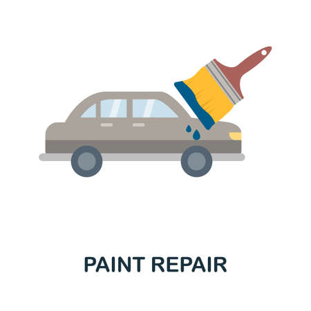 Paint Repair flat icon. Colored filled vector element from car servise collection. Creative Paint Repair icon for web design project, templates and infographics.