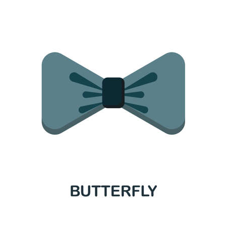 Butterfly flat icon. Colored filled vector element from clothes collection. Creative Butterfly icon for web design project, templates and infographics.