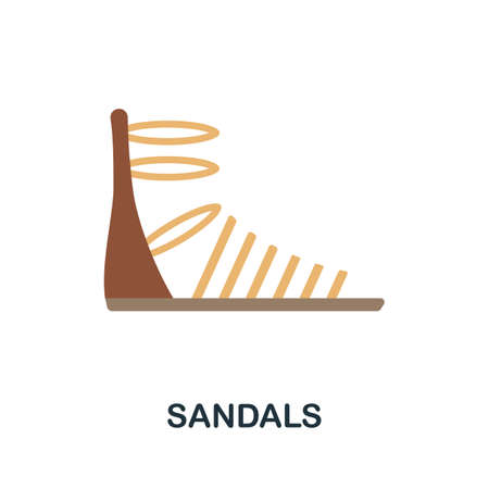 Sandals flat icon. Colored filled vector element from clothes collection. Creative Sandals icon for web design project, templates and infographics.