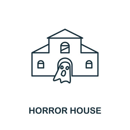 Horror House icon. Simple element from amusement park collection. Creative Horror House icon for web design, templates, infographics and more