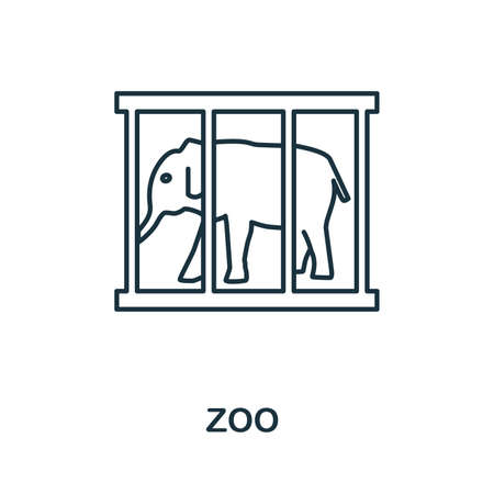 Zoo icon. Simple element from amusement park collection. Creative Zoo icon for web design, templates, infographics and more