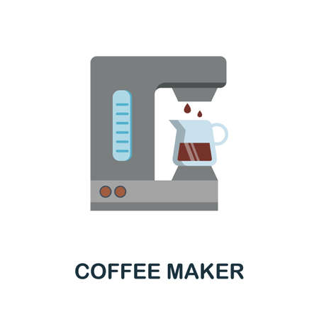 Coffee Maker flat icon. Color simple element from coffee collection. Creative Coffee Maker icon for web design, templates, infographics and more
