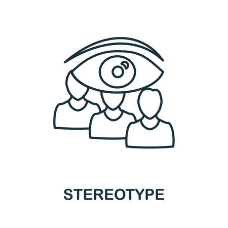 Stereotype icon. Simple element from business management collection. Creative Stereotype icon for web design, templates, infographics and more