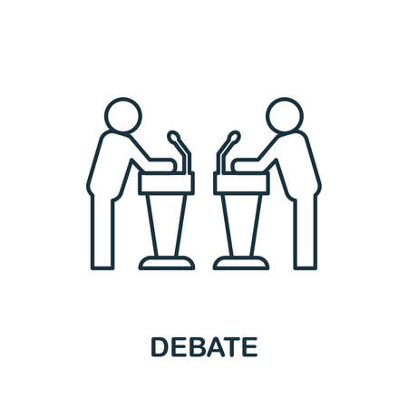 Debate icon. Simple element from business management collection. Creative Debate icon for web design, templates, infographics and more