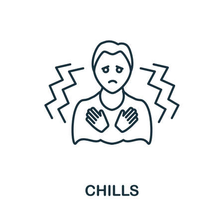 Chills icon. Simple illustration from coronavirus collection. Creative Chills icon for web design, templates, infographics and more