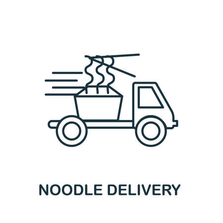 Noodle Delivery icon. Simple element from delivery collection. Creative Noodle Delivery icon for web design, templates, infographics and more