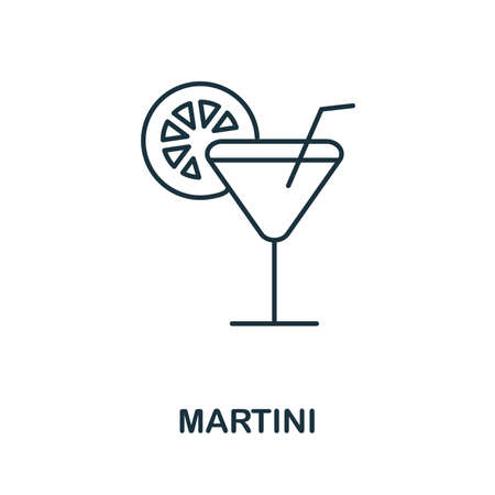 Martini icon. Simple element from drinks collection. Creative Martini icon for web design, templates, infographics and more