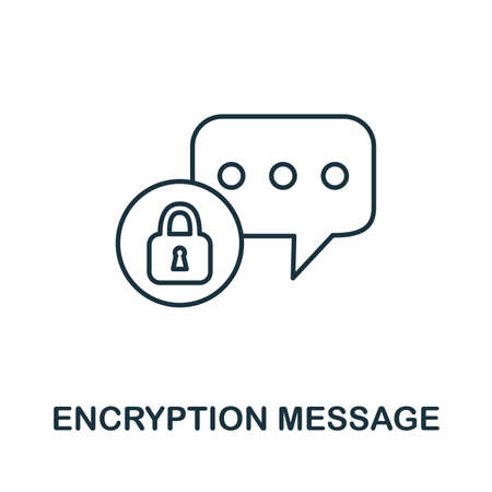 Encryption Message icon. Simple element from internet security collection. Creative Encryption Message icon for web design, templates, infographics and more