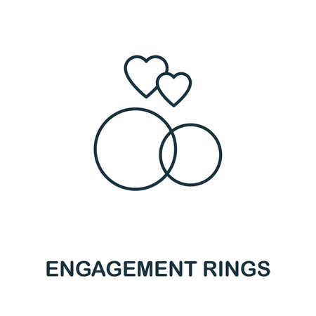 Engagement Rings icon. Simple element from jewelery collection. Creative Engagement Rings icon for web design, templates, infographics and more