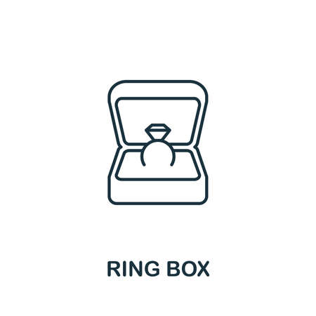 Ring Box icon. Simple element from jewelery collection. Creative Ring Box icon for web design, templates, infographics and more