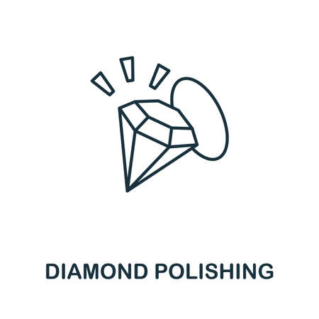 Diamond Polishing icon. Simple element from jewelery collection. Creative Diamond Polishing icon for web design, templates, infographics and more