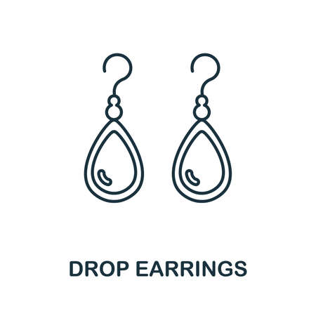 Drop Earrings icon. Simple element from jewelery collection. Creative Drop Earrings icon for web design, templates, infographics and more 일러스트