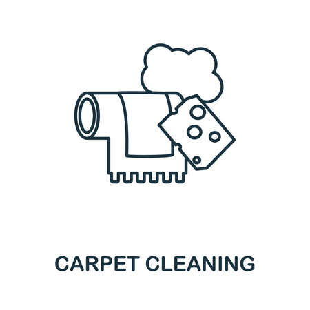 Carpet Cleaning icon. Simple illustration from laundry collection. Creative Carpet Cleaning icon for web design, templates, infographics and more