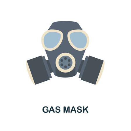 Gas Mask flat icon. Color simple element from weapon collection. Creative Gas Mask icon for web design, templates, infographics and more
