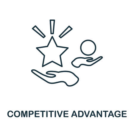 Competitive Advantage icon. Simple element from management collection. Creative Competitive Advantage icon for web design, templates, infographics and more