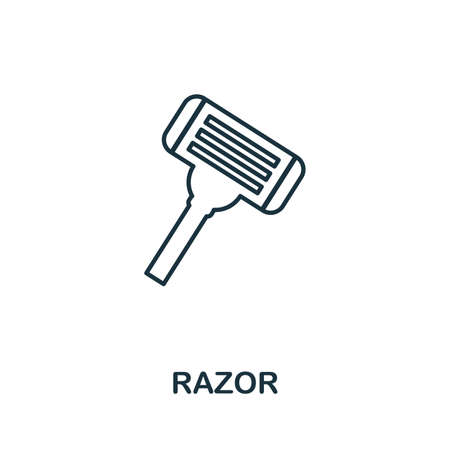 Razor icon. Simple element from personal hygiene collection. Creative Razor icon for web design, templates, infographics and more Vektorové ilustrace
