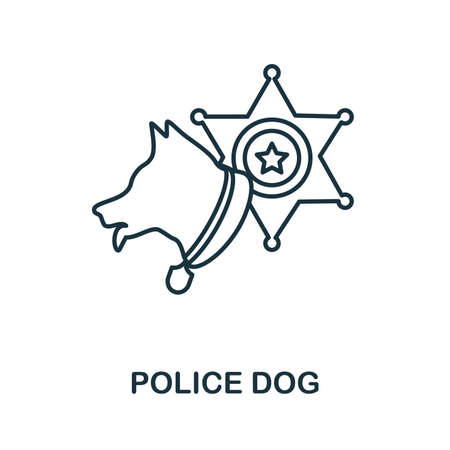 Police Dog icon. Simple element from police collection. Creative Police Dog icon for web design, templates, infographics and more