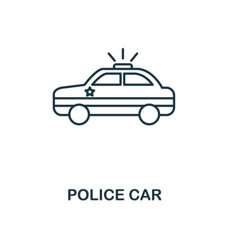 Police Car icon. Simple element from police collection. Creative Police Car icon for web design, templates, infographics and more