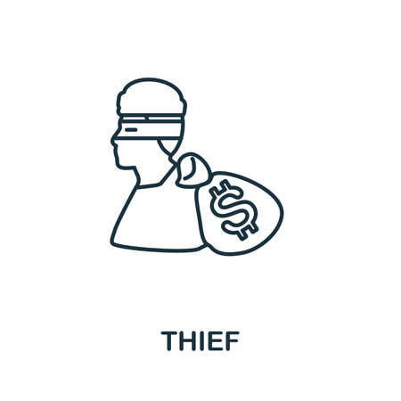 Thief icon. Simple element from police collection. Creative Thief icon for web design, templates, infographics and more