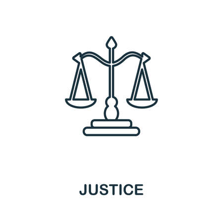 Justice icon. Simple element from police collection. Creative Justice icon for web design, templates, infographics and more