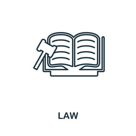 Law icon. Simple element from police collection. Creative Law icon for web design, templates, infographics and more Illustration