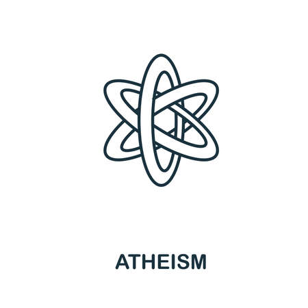 Atheism icon. Simple element from religion collection. Creative Atheism icon for web design, templates, infographics and more