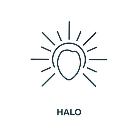 Halo icon. Simple element from religion collection. Creative Halo icon for web design, templates, infographics and more Vetores