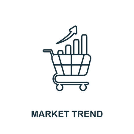 Market Trend icon. Simple element from risk management collection. Creative Market Trend icon for web design, templates, infographics and more