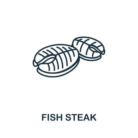 Fish Steak icon. Simple illustration from seafood collection. Creative Fish Steak icon for web design, templates, infographics and more