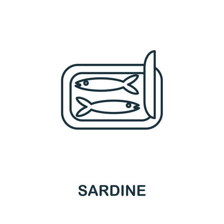 Sardine icon. Simple illustration from seafood collection. Creative Sardine icon for web design, templates, infographics and more