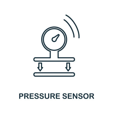 Pressure Sensor icon. Simple element from sensors icons collection. Creative Pressure Sensor icon ui, ux, apps, software and infographics