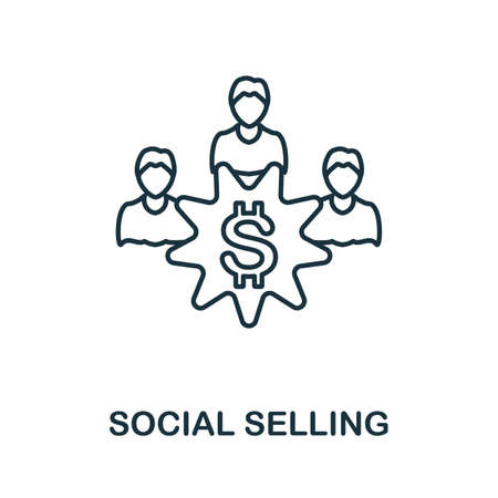 Social Selling icon. Simple element from social media collection. Creative Social Selling icon for web design, templates, infographics and more