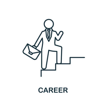 Career icon. Simple illustration from startup collection. Creative Career icon for web design, templates, infographics and more