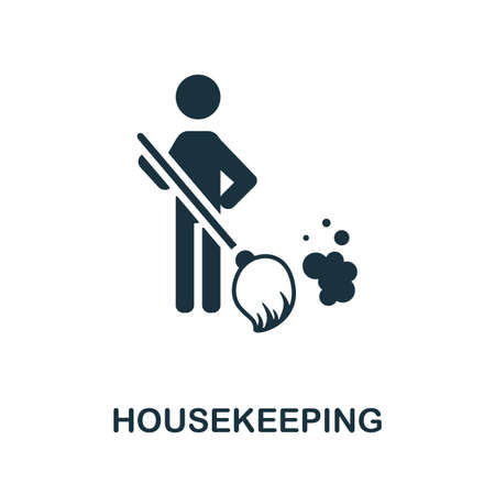 Housekeeping icon. Monochrome simple element from housekeeping collection. Creative Housekeeping icon for web design, templates, infographics and more