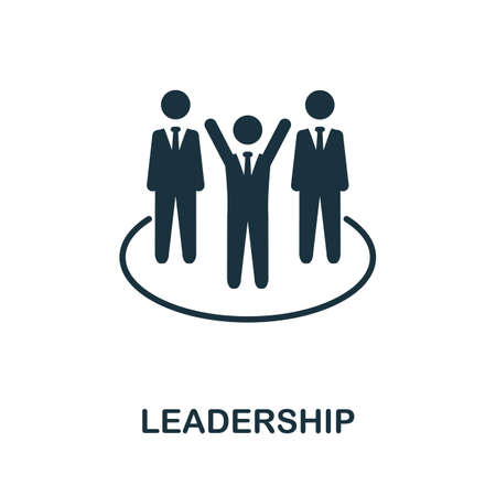 Leadership icon. Monochrome simple element from personal growth collection. Creative Leadership icon for web design, templates, infographics and more
