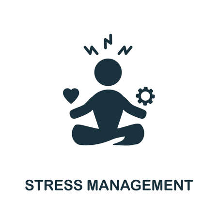 Stress Management icon. Monochrome simple element from soft skill collection. Creative Stress Management icon for web design, templates, infographics and more