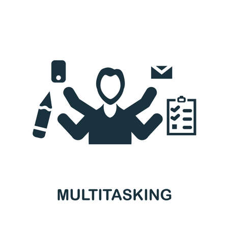 Multitasking icon. Simple element from management collection. Creative Multitasking icon for web design, templates, infographics and more