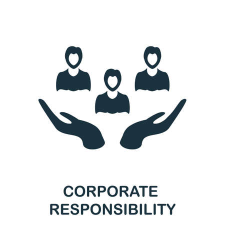 Corporate Responsibility icon. Simple element from management collection. Creative Corporate Responsibility icon for web design, templates, infographics and more Ilustración de vector