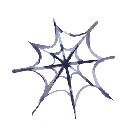 Watercolor web on a white background. Watercolor illustration for Halloween. Zdjęcie Seryjne