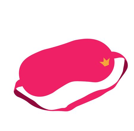 Vector stock illustration of a sleep mask  イラスト・ベクター素材