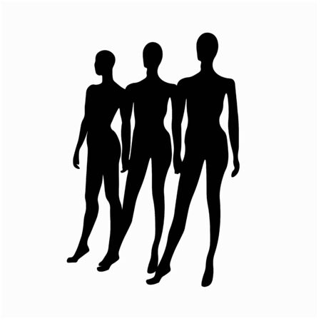 Vector stock illustration of a mannequin for clothing. A human figure for a tailor. Isolated on a white background